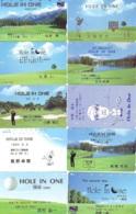 10 Télécartes - Prepaid Différentes  JAPON * SPORT * GOLF (LOT A-30) JAPAN 10 DIFFERENT PHONECARDS * 10 VERSCHIEDENE TK - Sport