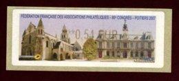 2007 Vignette Lisa 80° Congrés F.F.A.P. - 1999-2009 Viñetas De Franqueo Illustradas