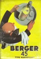 PUBLICITE BERGER 45 - CARTE METAL 15X21 - EDITIONS CLOUET - SOUS BLISTER - Plaques Publicitaires