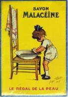 PUBLICITE SAVON MALACEINE - CARTE METAL 15X21 - EDITIONS CLOUET - SOUS BLISTER - Plaques Publicitaires
