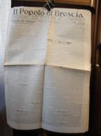 (G12) QUOTIDIANO  DELLA FEDERAZIONE PROVINCIALE FASCISTA IL POPOLO DI BRESCIA   ANNO 8 N° 92 19 APRILE 1930 - Riviste & Giornali