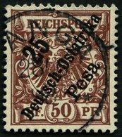DEUTSCH-OSTAFRIKA 10 O, 1896, 25 P. Auf 50 Pf. Lebhaftrötlichockerbraun, Pracht, Mi. 34.- - Kolonie: Deutsch-Ostafrika