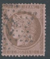 Lot N°51068  N°58, Oblit étoile Chiffrée 24 De PARIS (R. De Cléry) - 1871-1875 Cérès