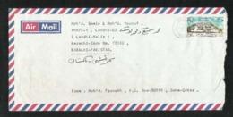 Qatar  Air Mail Postal Used  Cover Qatar To Pakistan  U P U - Qatar