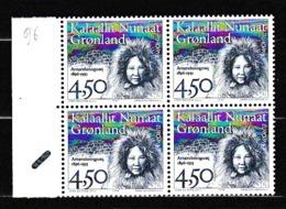 1996 Groenlandia Greenland EUROPA CEPT EUROPE 4 Serie Quartina MNH** - Europa-CEPT
