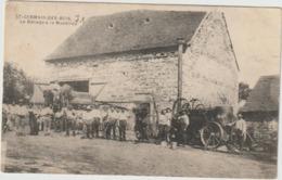 CPA  71 ST GERMAIN DES BOIS LE BATTAGE A LA MACHINE - France