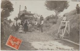 CPA  82  LAGUEPIE LIEU DIT LA MAGNONELLE  TRES RARE DEPIQUAGE DU BLE CARTE PHOTO - France