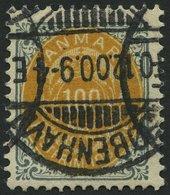 DÄNEMARK 31IIYB O, 1875, 100 Ø, Kopfstehender Rahmen, Wz. 1Y, Gezähnt K 12 3/4, Pracht, Mi. 45.- - 1851-63 (Frederik VII)