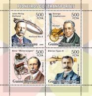 Guinea - Bissau 2006 - Transport Pioneers (Holand, Stephenson, Benz, Bleriot) 4vs Y&T 2166-2169, Michel 3346-3349 - Guinea-Bissau