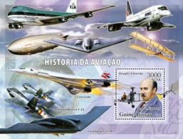 Guinea - Bissau 2006 - History Of Aviation (Sikorsky, Various Airplanes) S/s Y&T 308, Michel 3344/BL555 - Guinea-Bissau