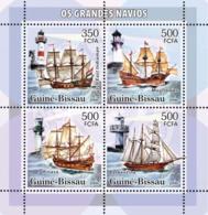Guinea - Bissau 2006 - Sail Ships & Lighthouses 4v Y&T 2182-2185, Michel 3315-3318 - Guinea-Bissau