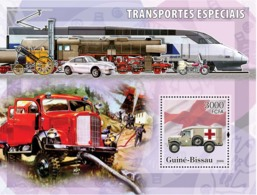 Guinea - Bissau 2006 - Special Transport (Fire Engine, Ambulance, Red Cross) S/s Y&T 313, Michel 3381/BL560 - Guinea-Bissau
