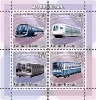 Guinea - Bissau 2006 - Metro-Underground Trains 4v Y&T 2206-2209, Michel 3366-3369 - Guinea-Bissau