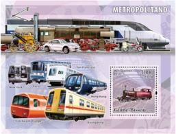 Guinea - Bissau 2006 - Metro-Underground Trains S/s Y&T 316, Michel 3383/BL562 - Guinea-Bissau
