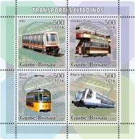 Guinea - Bissau 2006 - City Transport - Trams 4v Y&T 2210-2213, Michel 3374-3377 - Guinea-Bissau