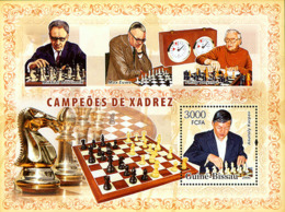 Guinea - Bissau 2006 - Chess Champions (Karpov, Euwe, Smyslov, Botvinik) S/s Y&T 320, Michel 3460/BL579 - Guinea-Bissau