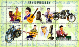 Guinea - Bissau 2006 - Elvis Presley & Motorcycles 4v Y&T 2230-2233, Michel 3431-3434 - Guinea-Bissau