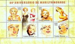 Guinea - Bissau 2006 - 80th Anniversary Marilyn Monroe 4v Y&T 2234-2237, Michel 3426-3429 - Guinea-Bissau