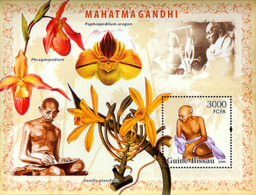 Guinea - Bissau 2006 - Mahatma Gandhi & Orchids S/s Y&T 325, Michel 3425/BL572 - Guinea-Bissau