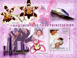 Guinea - Bissau 2006 - Naissance Of Son To Japanese Princess Kiko, Orchids S/s Y&T 326, Michel 3445/BL576 - Guinea-Bissau