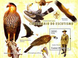 Guinea - Bissau 2006 - Centenary Scouts, Birds Of Prey S/s Y&T 332, Michel 3408/BL567 - Guinée-Bissau