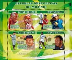 Guinea - Bissau 2007 - Century Sportsmen: Basketball M. Jordan, Golf T. Woods 4v Y&T 2282-2284, Michel 3466-3469 - Guinea-Bissau
