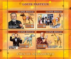 Guinea - Bissau 2007 - Louis Pasteur Dogs Red Cross 4v Y&T 2310-2313, Michel 3481-3484 - Guinée-Bissau