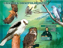 Guinea - Bissau 2007 - Ornithologists Owls Birds Of Prey S/s Y&T 343, Michel 3475/BL582 - Guinée-Bissau