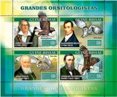 Guinea - Bissau 2007 - Ornithologists Birds Owls 4v Y&T 2314-2317, Michel 3471-3474 - Guinée-Bissau