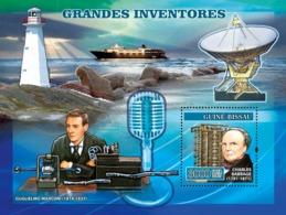 Guinea - Bissau 2007 - Inventors: Babbage, Marconi, Lighthouse .. S/s Y&T 346, Michel 3480/BL583 - Guinea-Bissau