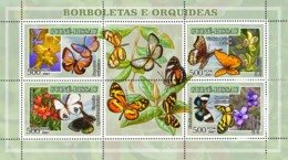 Guinea - Bissau 2007 - Butterflies And Orchids 4v Y&T 2338-2341, Michel 3574-3577 - Guinea-Bissau