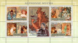 Guinea - Bissau 2007 - Alphonse Mucha - Paintings 4v Y&T 2366-2369, Michel 3536-3539 - Guinea-Bissau