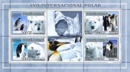 Guinea - Bissau 2007 - Int'l Polar Year, Penguins, White Bears 4v Y&T 2374-2377, Michel 3562-3565 - Guinea-Bissau