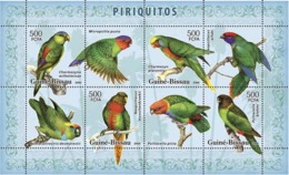 Guinea - Bissau 2007 - Parrots 4v Y&T 2390-2393, Michel 3594-3597 - Guinea-Bissau