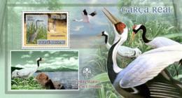 Guinea - Bissau 2007 - Birds - Herons - Scouts Logo S/s Y&T 354, Michel 3605/BL602 - Guinea-Bissau