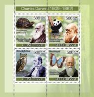 Guinea - Bissau 2007 - Charles Darwin/Turtle/Owl/Panda/Butterfly 4v Y&T 2416-2419, Michel 3648-3651 - Guinea-Bissau