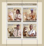 Guinea - Bissau 2007 - Centenary Of Scouting/ Scouts/ Dogs/ Cats 4v Y&T 2444-2447, Michel 3613-3616 - Guinée-Bissau