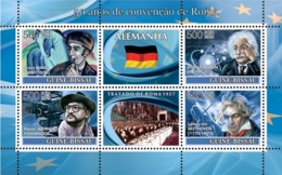 Guinea - Bissau 2008 - Idea Of Europe-50 Years Treaty Of Rome-Germany-Franz Marc 4v Y&T 2472-2475, Michel 3752-3755 - Guinée-Bissau