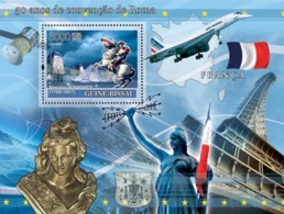 Guinea - Bissau 2008 - Idea Of Europe-50 Years Treaty Of Rome-France-Monuments Of Paris S/s Y&T 382, Michel 3767/BL638 - Guinée-Bissau