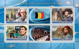 Guinea - Bissau 2008 - Idea Of Europe-50 Years Treaty Of Rome-Belgium-Bordet, Tintin 4v Y&T 2480-2483, Michel 3744-3747 - Guinea-Bissau