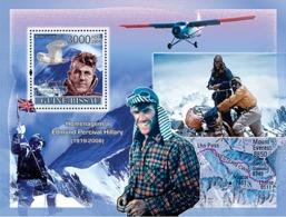 Guinea - Bissau 2008 - Tribute To Edmund Percival Hillary (1919-2008)-Mountains, Birds S/s Y&T 385, Michel 3731/BL632 - Guinea-Bissau
