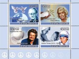 Guinea - Bissau 2008 - Ladies Heroes Of Peace II - Nobel Prize Winners 4v Y&T 2498-2501, Michel 3696-3699 - Guinée-Bissau