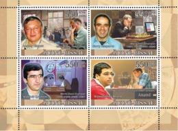 Guinea - Bissau 2008 - Chess Champions IV (Karpov, Kasparov, Kramnik, Anand) 4v Y&T 2522-2525, Michel 3714-3717 - Guinea-Bissau