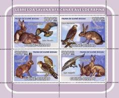 Guinea - Bissau 2008 - African Savannah Rabbits, Birds Of Prey 4v Y&T 2542-2545, Michel 3796-3799 - Guinée-Bissau