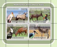 Guinea - Bissau 2008 - Antelopes, Birds 4v Y&T 2558-2561, Michel 3812-3815 - Guinée-Bissau