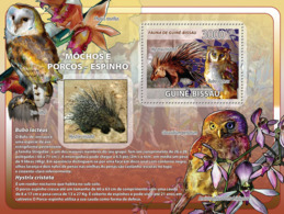 Guinea - Bissau 2008 - Owls, Porcupines, Orchids S/s Y&T 399, Michel 3836/BL647 - Guinea-Bissau