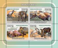 Guinea - Bissau 2008 - Boars, Birds 4v Y&T 2562-2565, Michel 3820-3823 - Guinea-Bissau