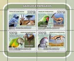 Guinea - Bissau 2008 - Gazelles, Parrots 4v Y&T 2570-2573, Michel 3808-3811 - Guinea-Bissau