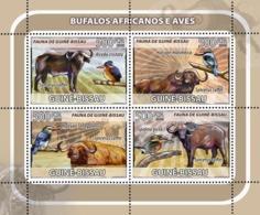 Guinea - Bissau 2008 - African Buffalos, Birds 4v Y&T 2574-2577, Michel 3804-3807 - Guinea-Bissau