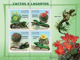 Guinea - Bissau 2008 - Cactus & Lizards 4v Y&T 2586-2588, Michel 3864-3867 - Guinea-Bissau